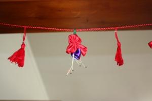 Ribbon fuchsia with tassels